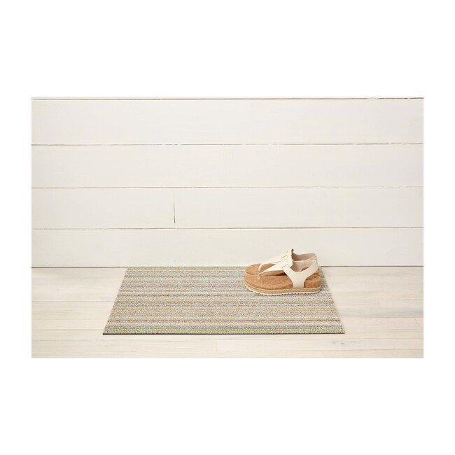 Skinny Stripe Shag Floor Mat, Soft Multi