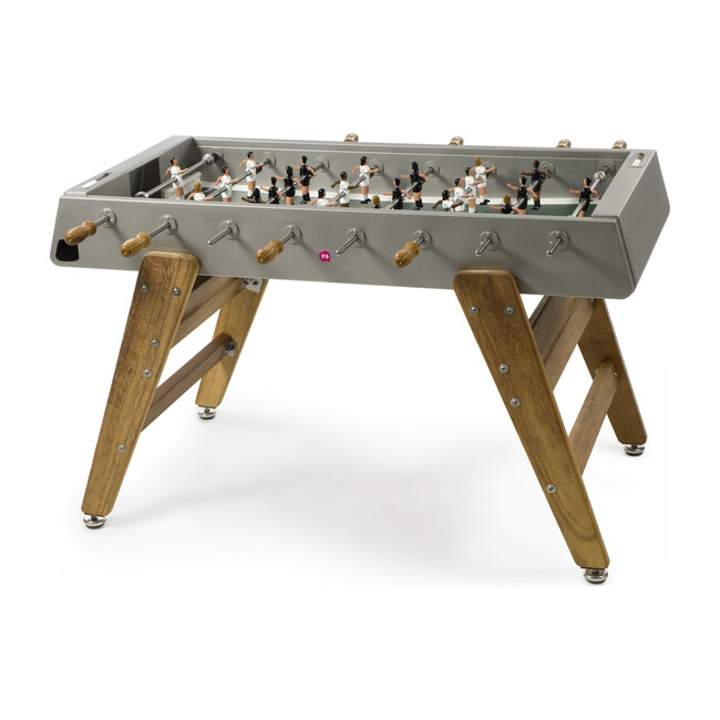 RS #3 Indoor/Outdoor Foosball Table, Stainless/Wood