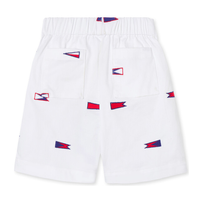 Dylan Embroidered Burgees Short, White