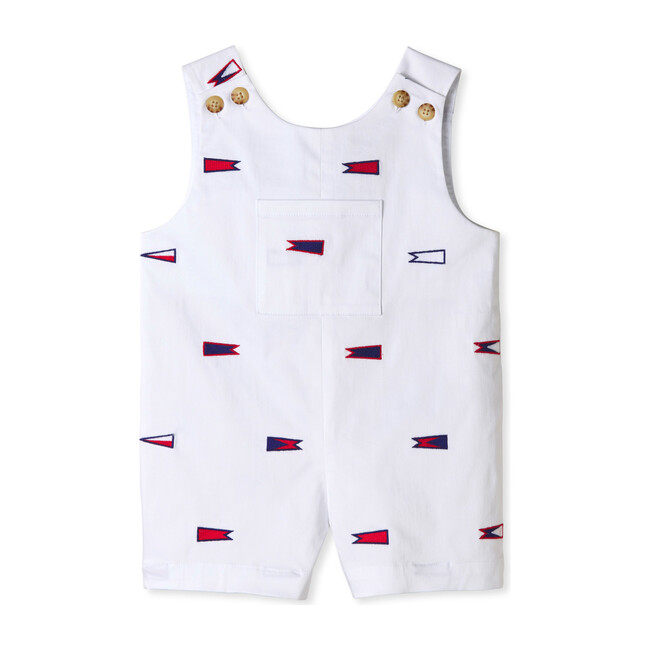 James Embroidered Burgees Shortall, Bright White