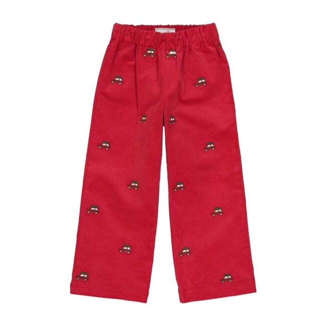 Myles Slim Pant, Crimson & Woody - Pants - 1
