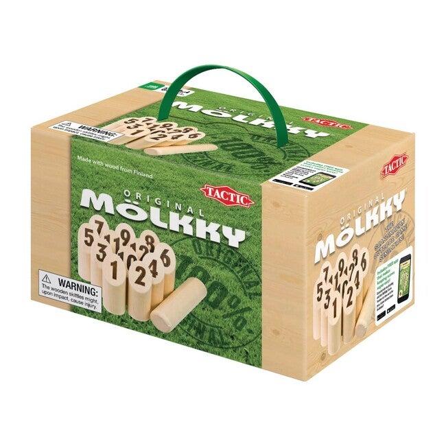 Mölkky in a Cardboard Box