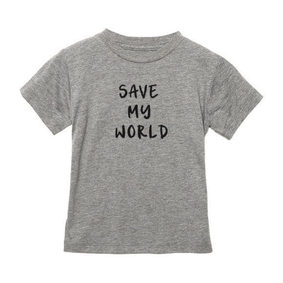 Save My World T-shirt, Light Grey