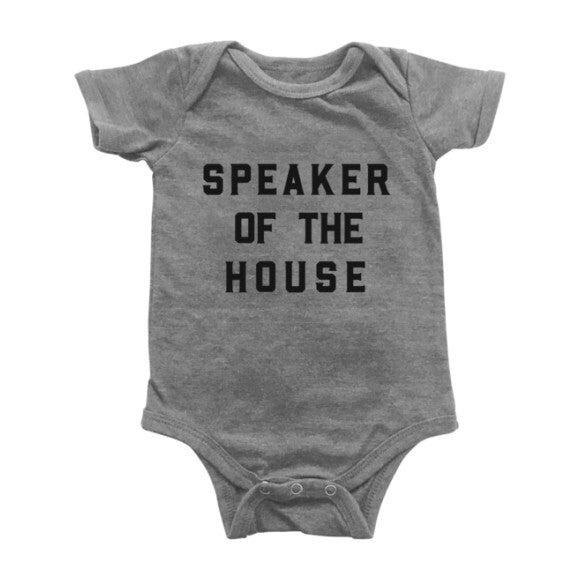 Speaker of the House Bodysuit, Light Grey