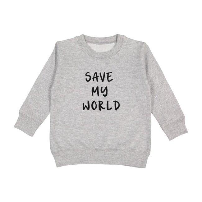 Save My World Pullover, Light Grey