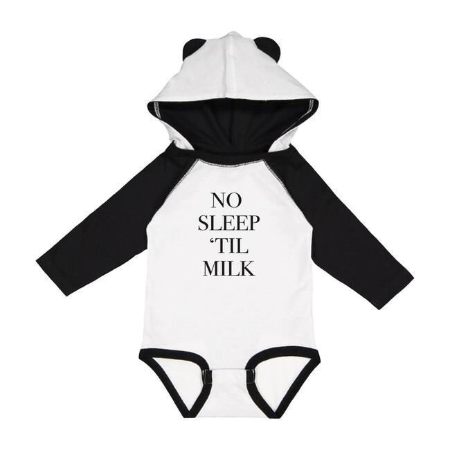 No Sleep 'Til Milk Bodysuit, Black/White - Onesies - 1
