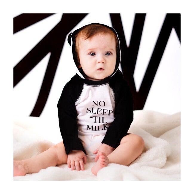 No Sleep 'Til Milk Bodysuit, Black/White