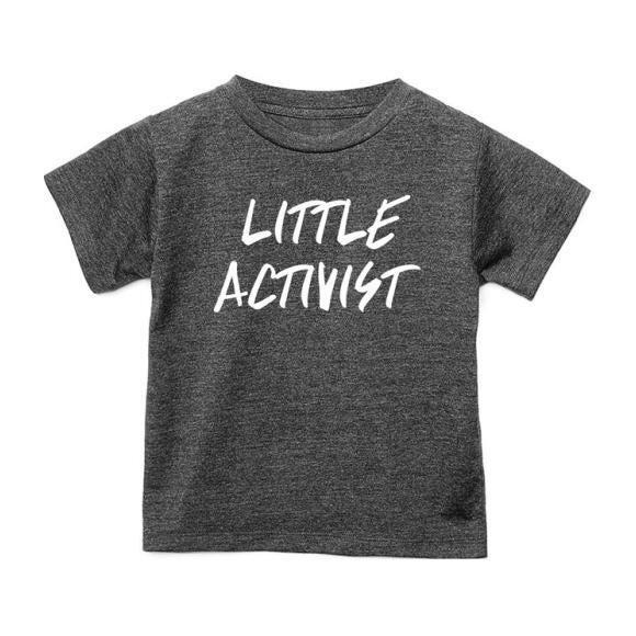 Little Activist T-shirt, Charcoal Grey