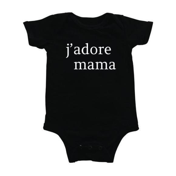 J'adore Mama Bodysuit, Black