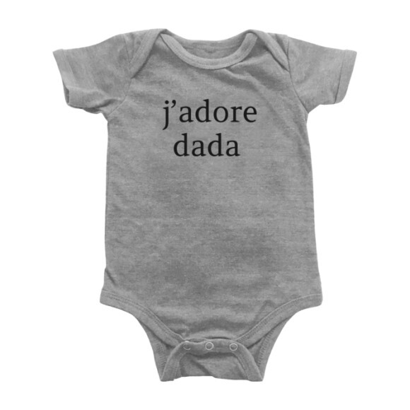 J'adore Dada Bodysuit, Light Grey