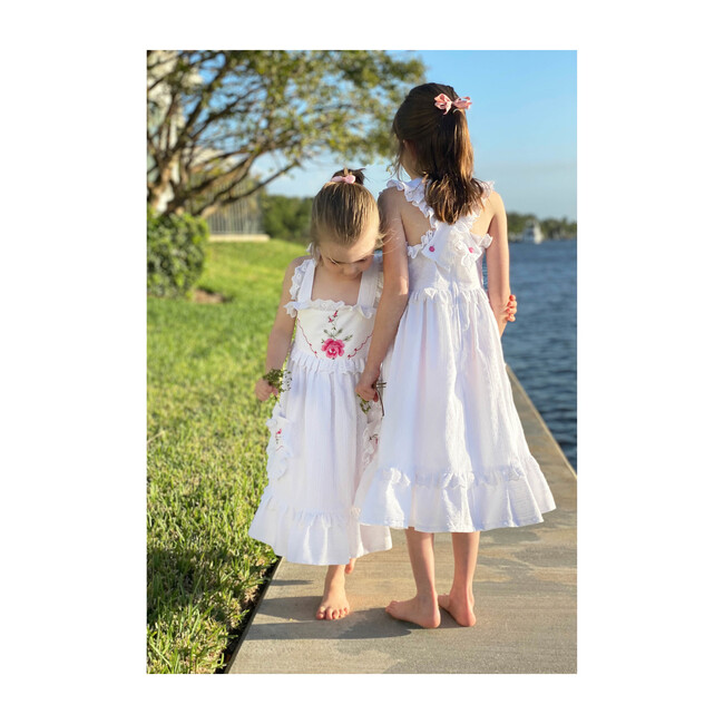 12y Heirloom Handkerchief Dress, Spring Tulips