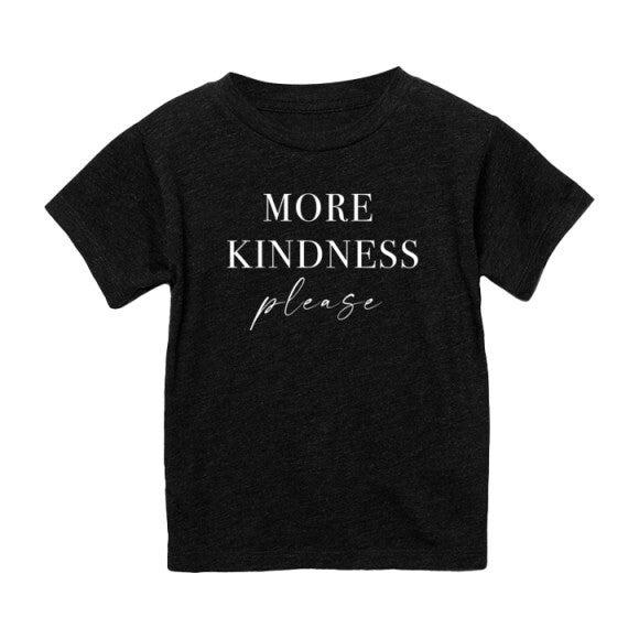 More Kindness Please T-shirt, Charcoal Black