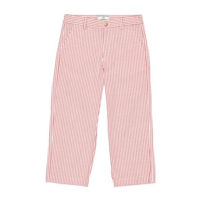 Gavin Seersucker Pants, Red/White - Pants - 1