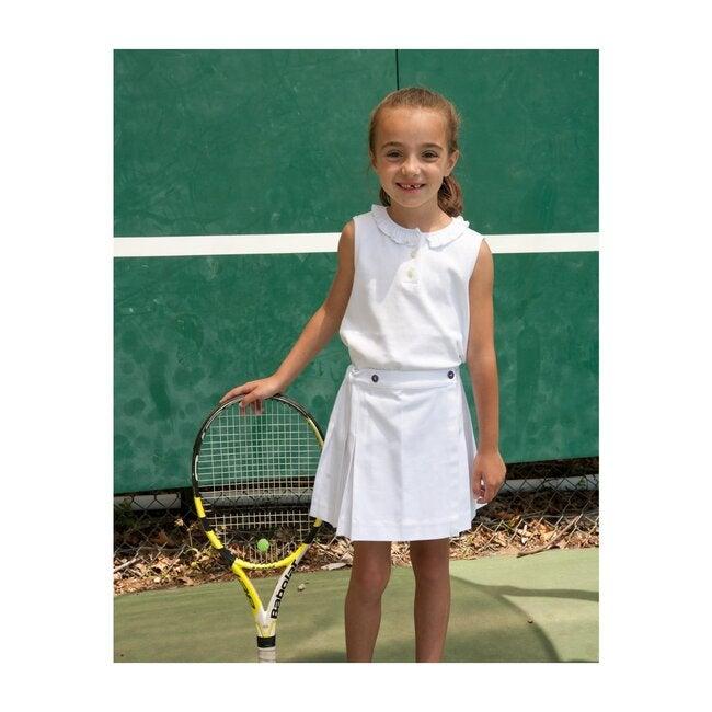 Erin Tennis Skirt, White