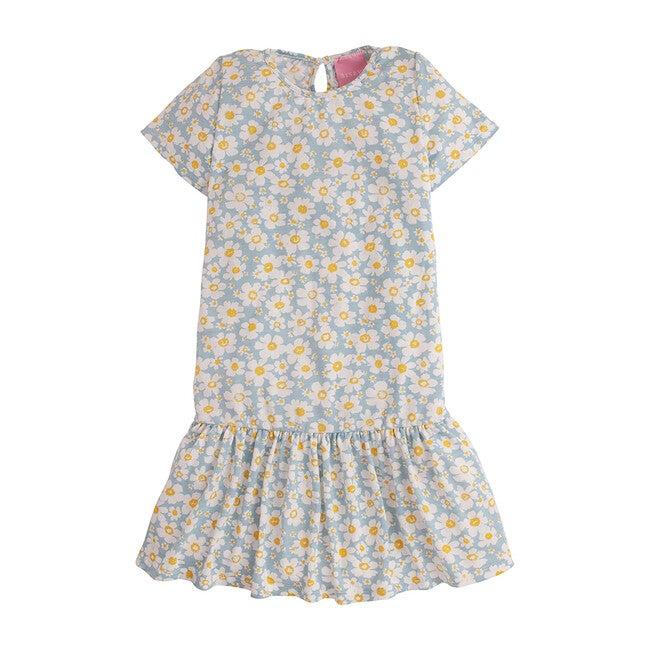 Isabel Jersey Dress, Blue Daisy