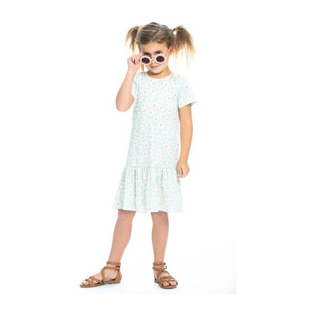 Isabel Jersey Dress, Mint Daisy