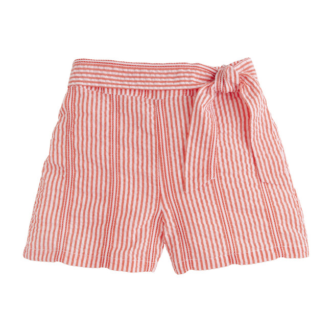 Bow Seersucker Short, Fancy Red