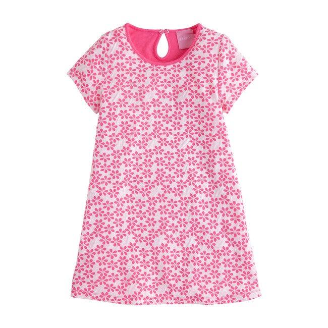 Carmen T-Shirt Dress, Hot Pink Floral