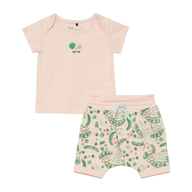Pea Outfit Set, Peach