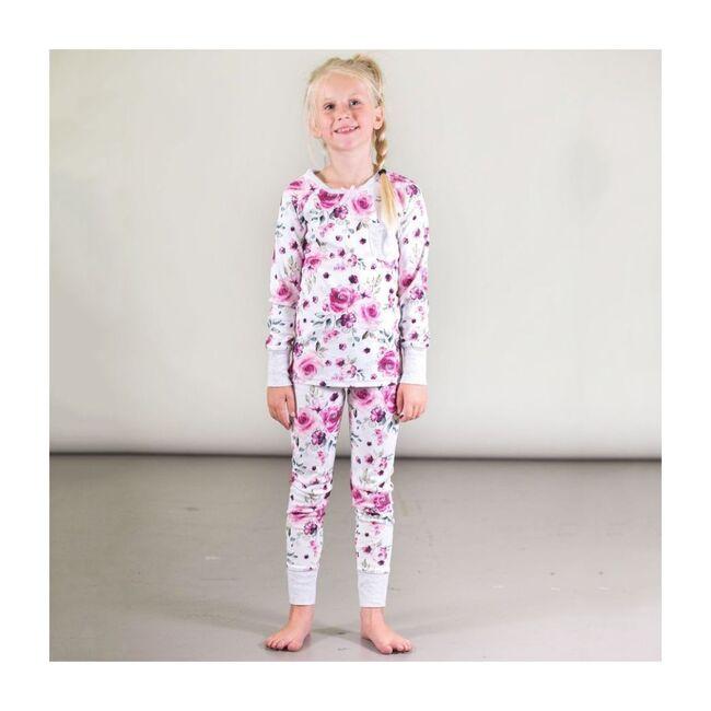 Rose Print Pajama Set, Pink