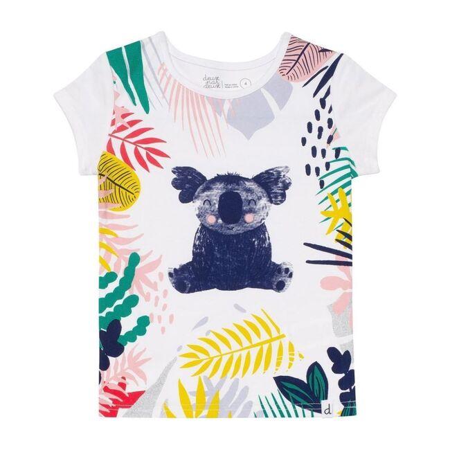 Floral Koala T-Shirt, White