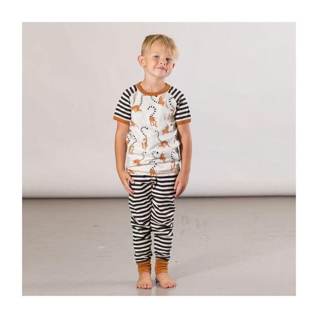 Lemur Print Pajamas, Beige