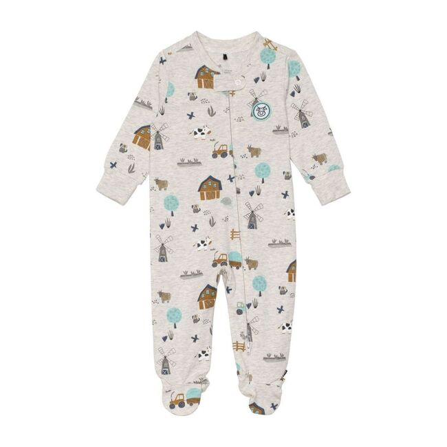 Farm Print Pajama, Beige