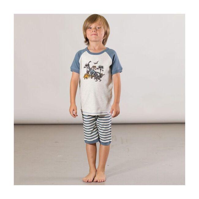 Dino Pajama Set, Blue