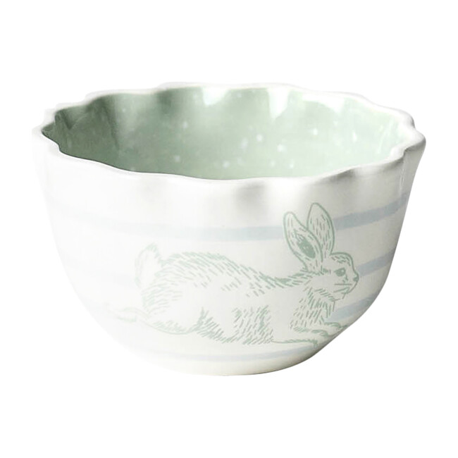 Speckled Rabbit Ruffle Appetizer Bowl