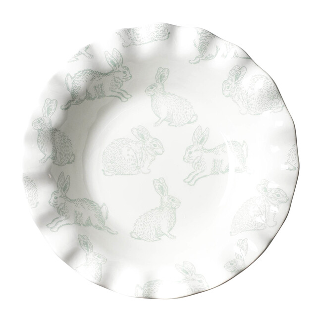 Speckled Rabbit Ruffle Plate