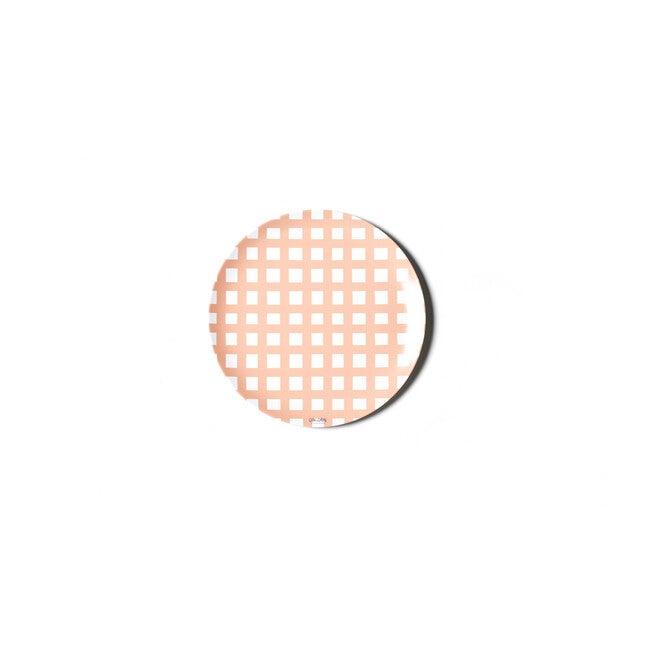 Gingham Melamine Dinner Plate, Pink