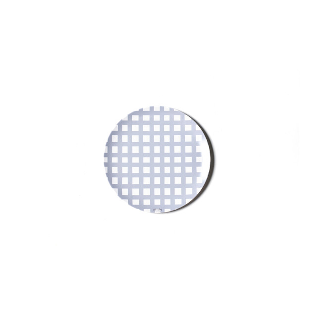 Gingham Melamine Dinner Plate, Blue