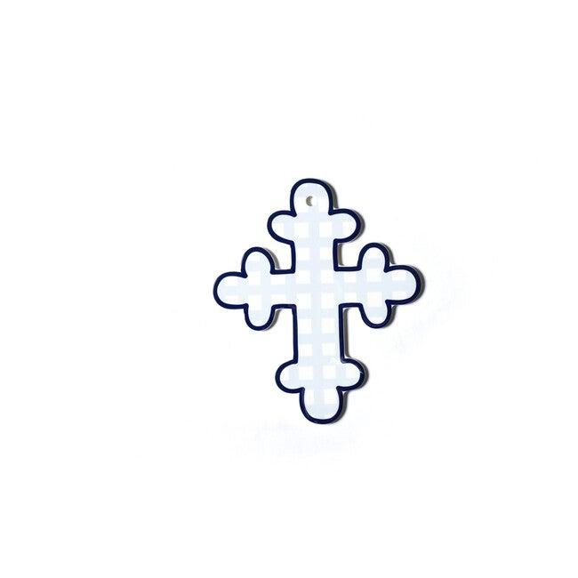 Gingham Cross, Blue