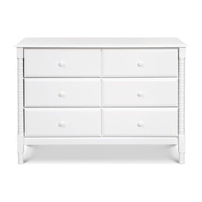 Jenny Lind Spindle 6-Drawer Dresser, White