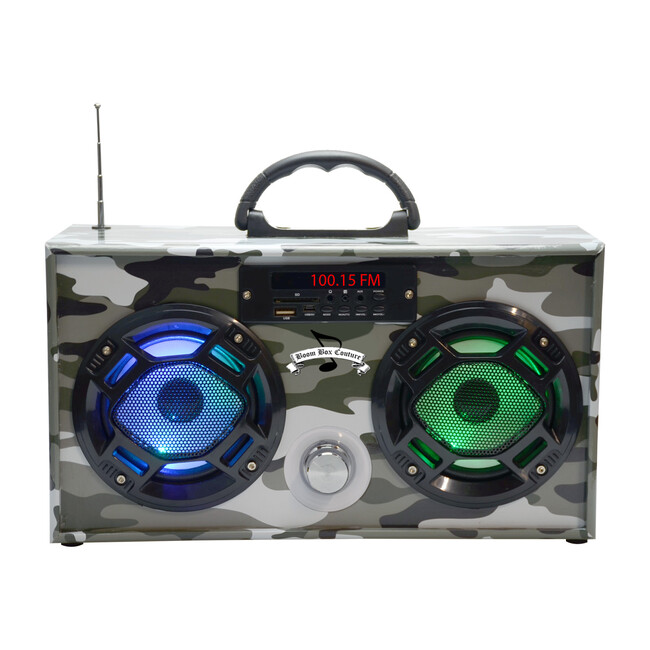 Bluetooth Mini Boom Box, Green Camo