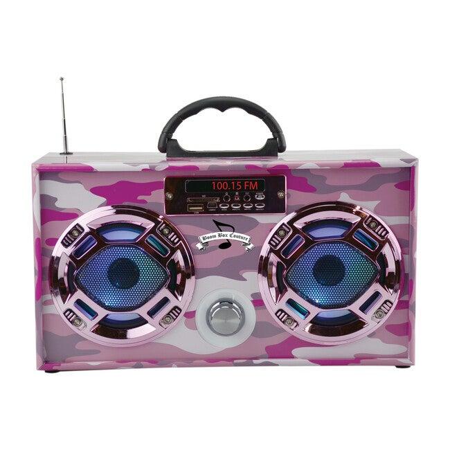 Bluetooth Mini Boom Box, Pink Camo