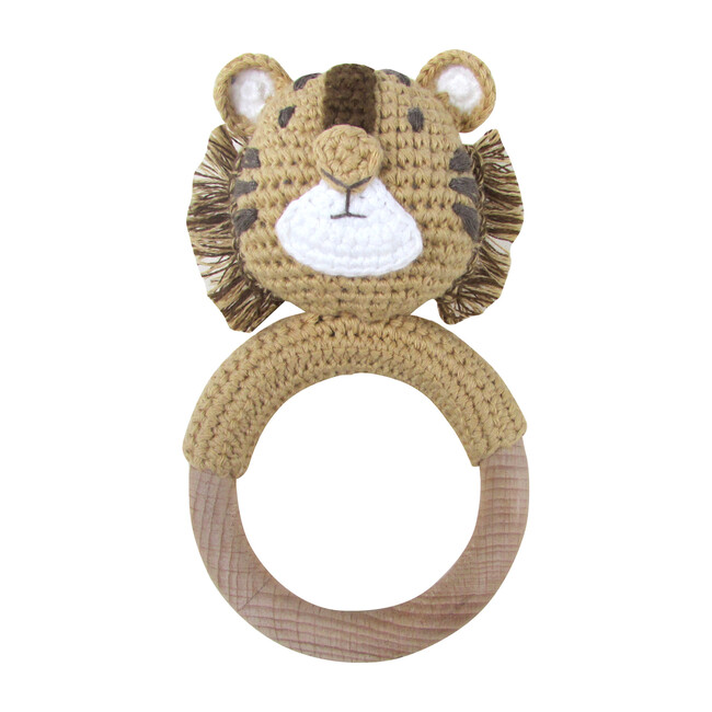 Crochet Tiger Ring Rattle Teether