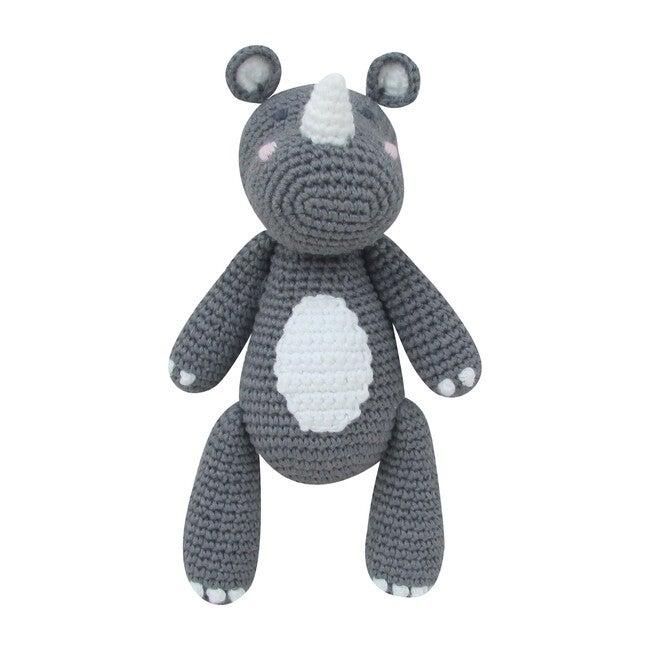 Crochet Rob Rhino Rattle Toy
