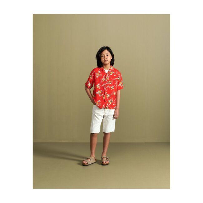Arno Short-Sleeved Shirt, Red Pineapple