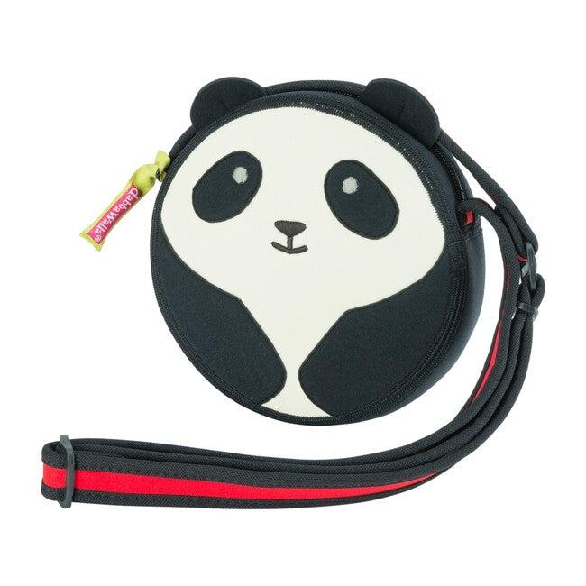 Panda Crossbody Purse, Black and Cream