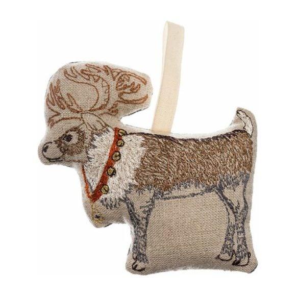 Reindeer with Bells Ornament