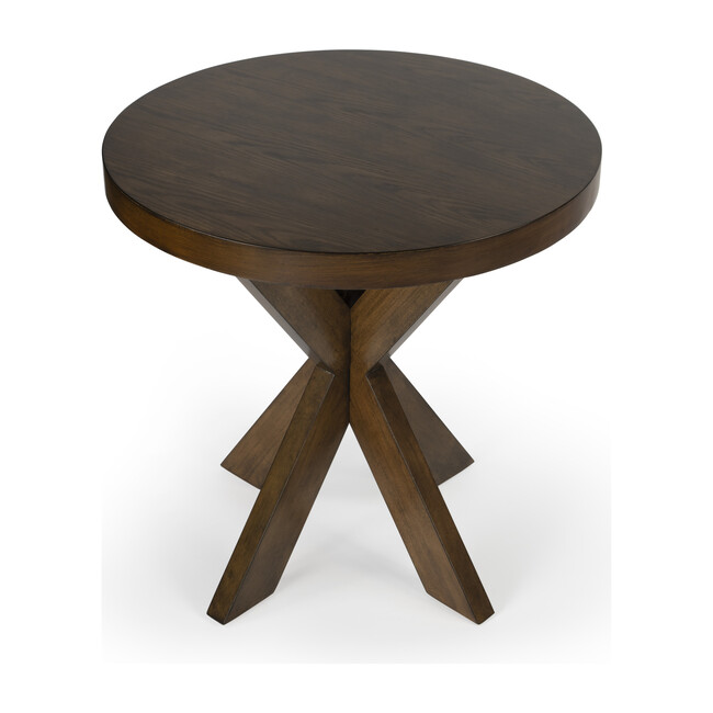 Pendleton Round Side Table, Praline