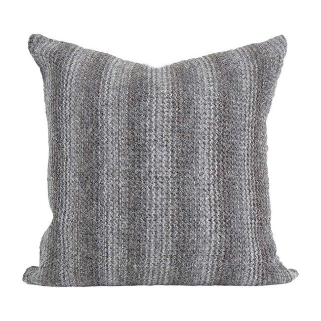 Alpaca Highland Pillow, Burnt Charcoal