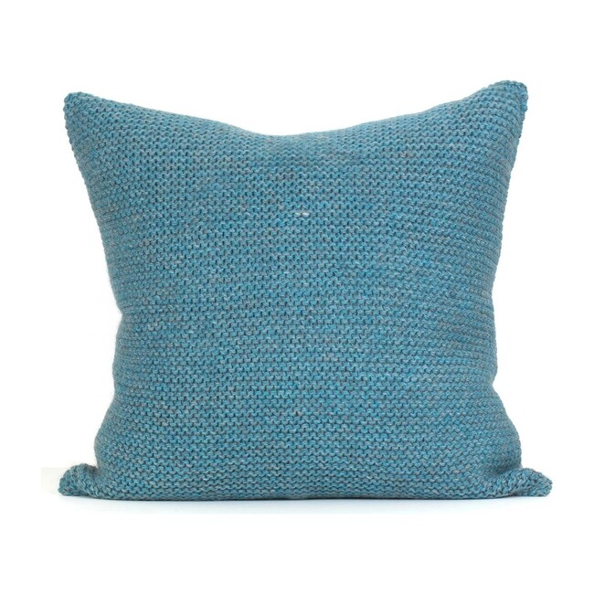 Alpaca Highland Pillow, Turquoise