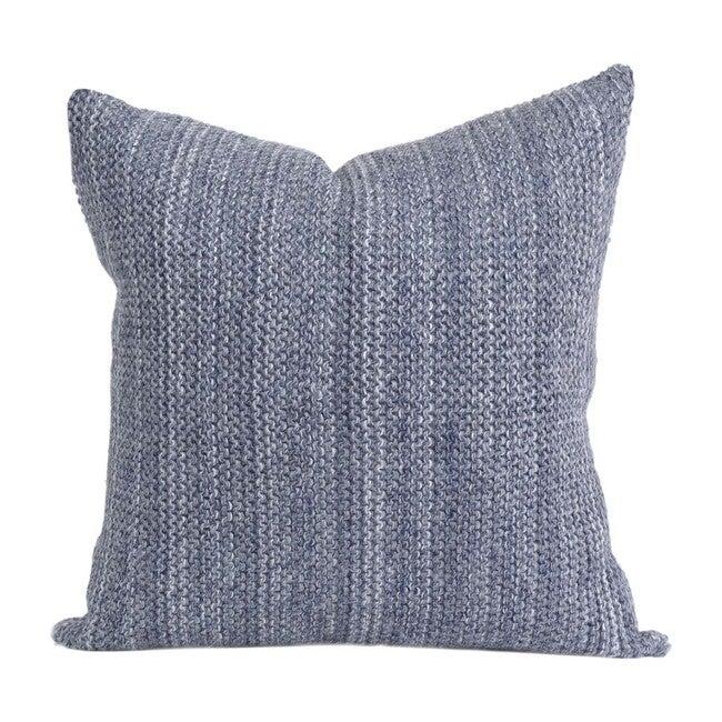 Alpaca Highland Pillow, Blue-Stone