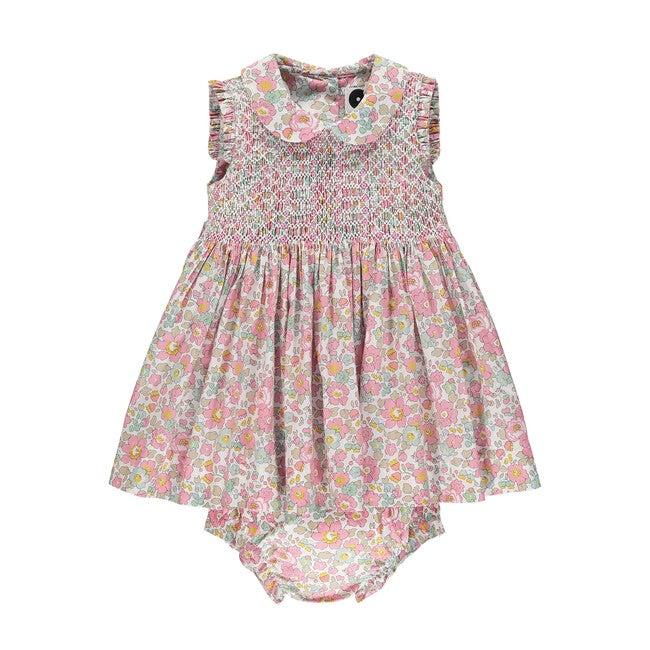Liberty Sleeveless Baby Dress, Misty