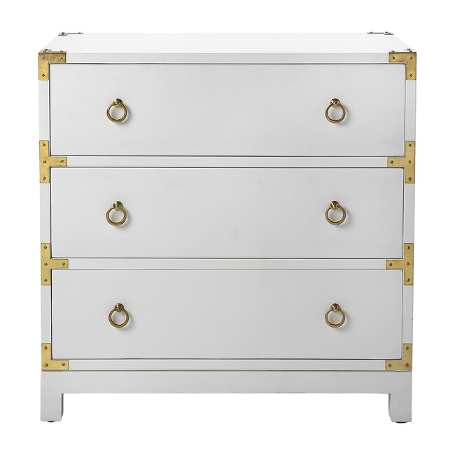 Forster Campaign Chest, Glossy White