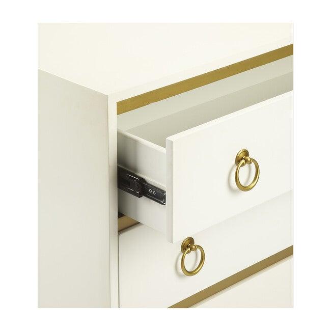 Monika Accent Dresser, Gold/White