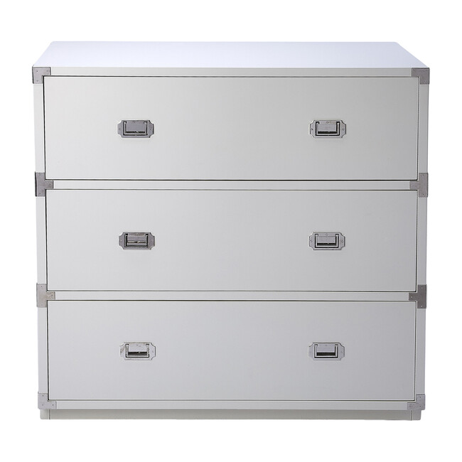 Anew 3-Drawer Campaign Dresser, White