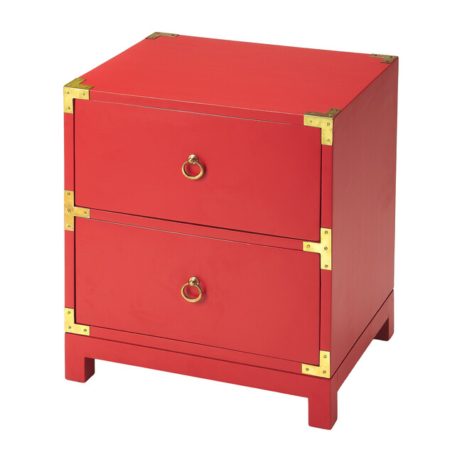 Ardennes Campaign Side Table, Red